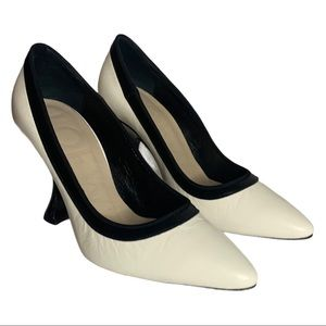 Loewe Leather Black And White Heels Size 36